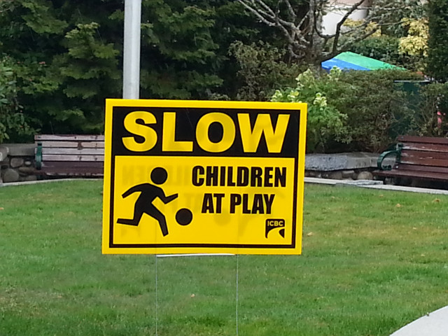 Slow, Children at Play Sign